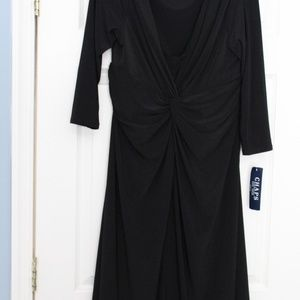 Chaps NWT Black Knit Dress SZ XL